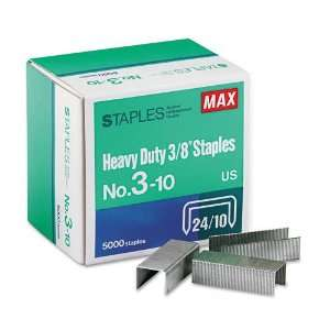 Max  Heavy Duty, Flat Clinch Staples For MXBHD3DF, 3/8