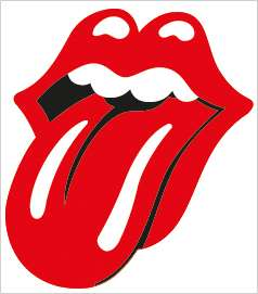 Rolling Stones Lips Tongue Vinyl Decal Sticker Laminated   9.5 x 10.5