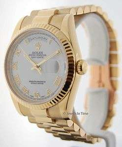 Rolex Mens Day Date 118238 K President 18k Yellow Gold JEWELS IN TIME