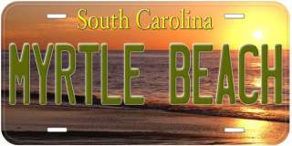 Myrtle Beach South Carolina Novelty Car License Plate