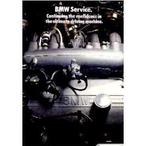 1979 BMW Service Sales Brochure Literature Book Piece