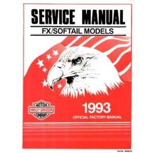 FX/Softail Models 1993 Official Factory Manual Harley Davidson