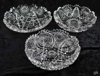 Antique American Brilliant Cut Glass Candy/Nut Dishes