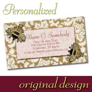 Personalized Custom Business Calling Cards floral motif