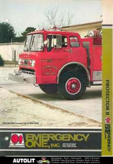 1980s Emergency One Ford Fire Truck Brochure Keystone