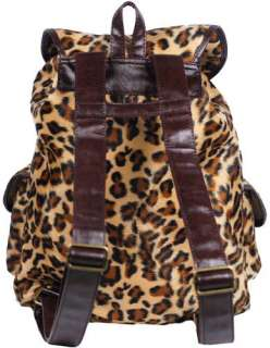 New Sexy Brown Leopard Print Backpack Bag #B21B