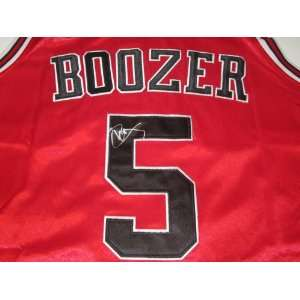 Carlos Boozer Signed Autographed Jersey Chicago Bulls