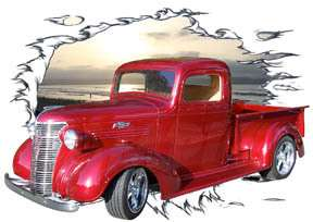 You are bidding on 1 1938 Candy Red Chevy Pickup Truck Custom Hot