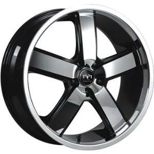 Motiv Magnum 20x10 Chrome Black Wheel / Rim 5x120 with a 44mm Offset