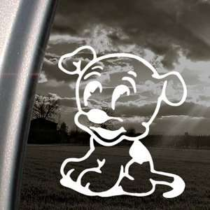 Betty Boop Decal Pudgy Dog Car Truck Window Sticker