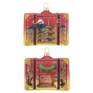 Personalized Japan Suitcase Christmas Ornament