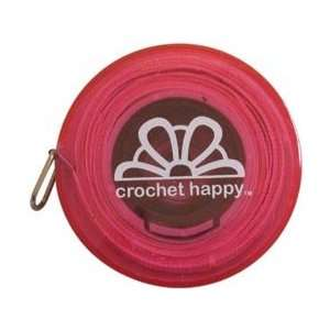 Knit Happy Gifts Crochet Happy Tape Measure Pink; 6 Items