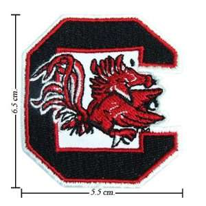 3pcs South Carolina Gamecocks Logo Embroidered Iron on Patches Kid