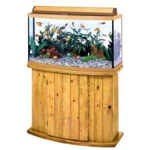 All Glass Aquarium Co. 46 Gallon Pine Bow Front Fish Tank