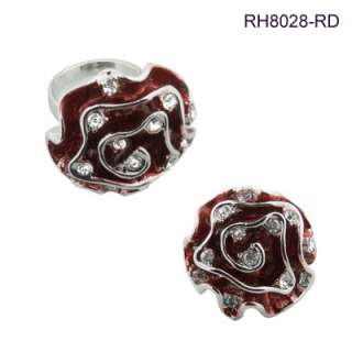 White, Purple, Blue, Black or Red Rose Ring 6 7 8 9 10