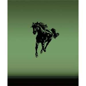RUNNING HORSE ANIMAL WALL VINYL STICKER DECALS ART MURAL