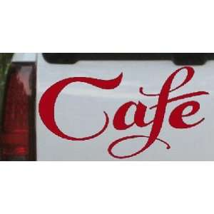 Red 22in X 11.7in    Cafe Decal Window Sign Business Car Window Wall