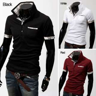 Mens Casual Slim Fit T Shirts Tee 3 Color 4 Size C125