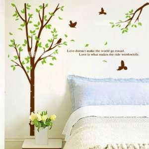 Wall Decor Removable Decal Sticker   Big Green Tree, Branch with Love