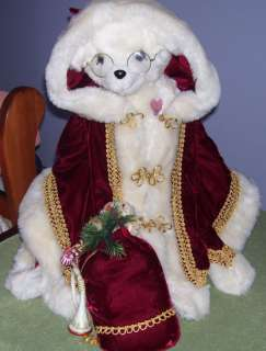 Beautiful Father Christmas Tilly Teddy Bear w Tags 1988