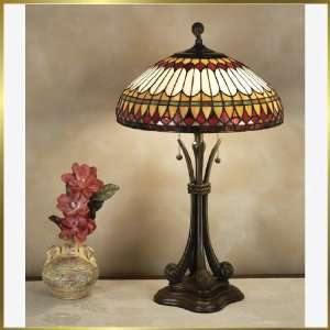 Tiffany Table Lamp, QZTF6660BB, 2 lights, Antique Bronze, 16 wide X