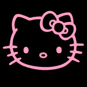 Hello Kitty SOFT PINK 5 Inch Decal Car Window Sticker