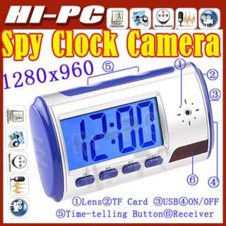 Mini Digital Hidden Spy Camera Clock with Remote Control Motion