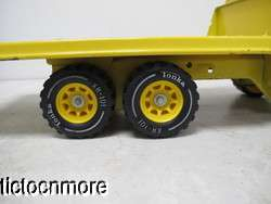 VINTAGE TONKA FLATBED DELIVERY TRUCK TOY PICK UP YELLOW CONSTRUCTION