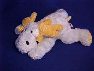 Ty Baby CUTSIEMOOSIE Blue & White Moose Stuffed Plush 2001