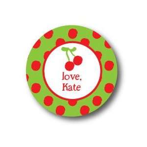 Polka Dot Pear Design   Round Stickers (371r) Office