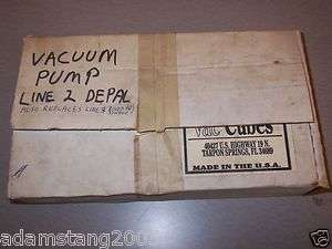 NEW VAC CUBES VACUUM PUMP MODEL 180 GAUGE