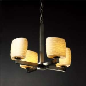 Justice Design Group Limoges Four Light Chandelier