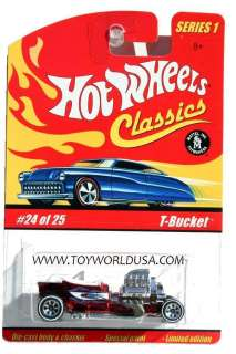 Hot Wheels Classics series 1 #24 T Bucket red 7 spoke