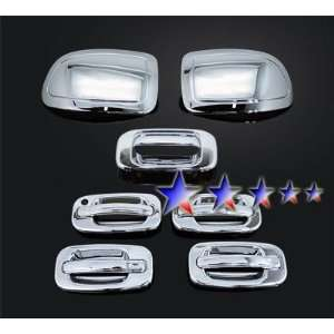 06 Chevy Silverado Chrome 4 Door+Mirror+Tailgate Handle Covers Combo