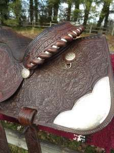 Tex Tan Hereford Tooled Leather Western Show/Equitation Saddle