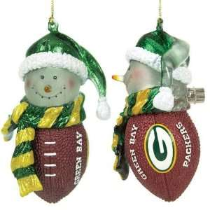 Green Bay Packers NFL Light Up Striped Acrylic Snowman