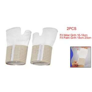 Pair White Stretchy Wrist Wrapped Palm Support