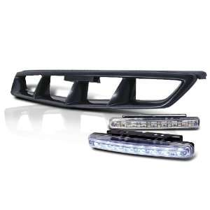 Eautolight Honda Civic Grill Grille + LED Bumper Fog Light