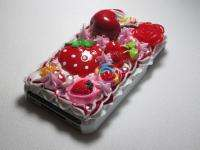 3D Cute Cream Cherry Starryberry Cake Bling Case Cover for iPhone 4 4s