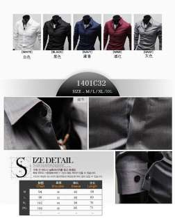 2012 New Mens Casual Luxury Stylish Slim fit Stylish Dress Shirt 4
