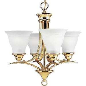 Progress Lighting Trinity Collection Polished Brass 4 Light Chandelier