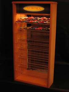 LIGHTED AURORA AFX HO SLOT CAR DISPLAY CASE