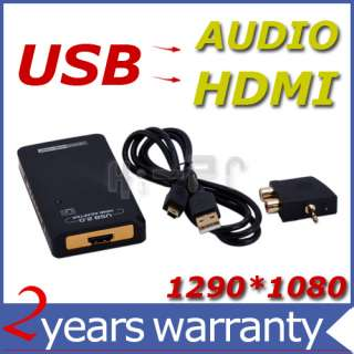 External USB to HDMI AUDIO Display Video Graphics Card