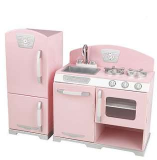 Buy Retro Wooden Toy Kitchen and Fridge By Nubie Modern Kids Boutique
