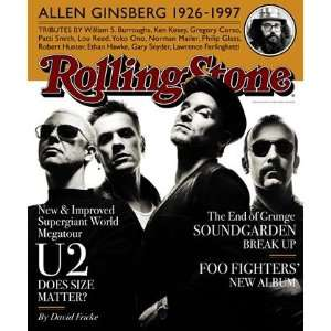 U2, 1997 Rolling Stone Cover Poster by Albert Watson (9.00 x 11.00