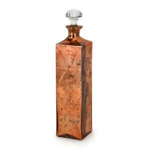 Bronze Antique Style Decorative Glass Bottle with Crystal