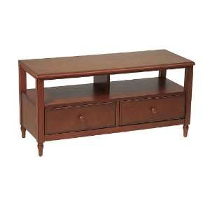 Knob Hill Component Series 40 TV Stand KH40Antique Cherry Wood Finish