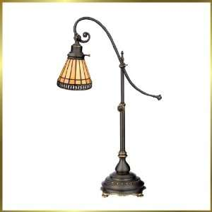 Tiffany Table Lamp, QZTFSO147KZ, 1 light, Antique Bronze, 22 wide X