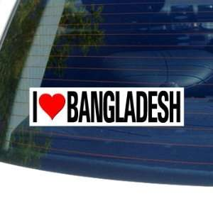 I Love Heart BANGLADESH   Window Bumper Sticker