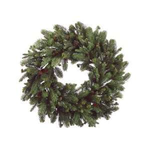 30 Noble Fir Artificial Christmas Wreath with Pine Cones